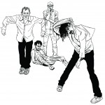 red hot chili peppers illustration by Joe Castro