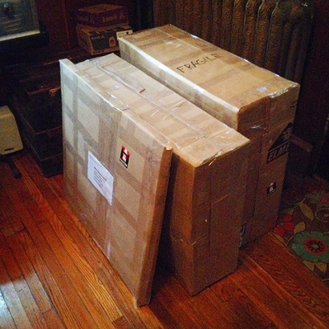 Joe Castro art being shipped to shows