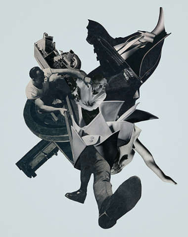 Kissing the Jaws of Life collage Joe Castro