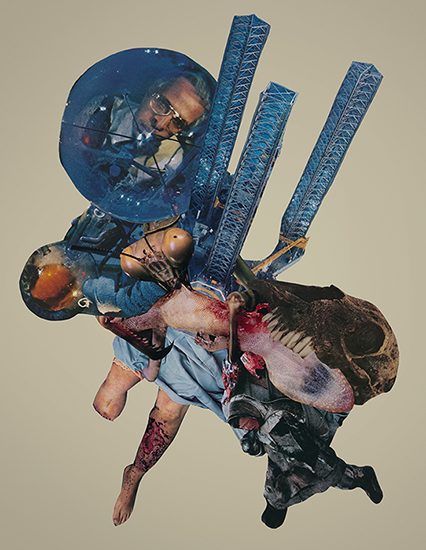 hyperparasite collage art by Joe Castro
