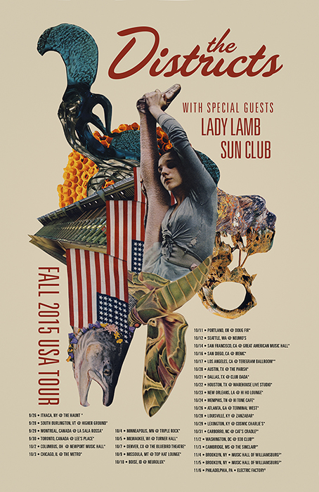 The Districts_Tour_Poster_Fall_2015_700