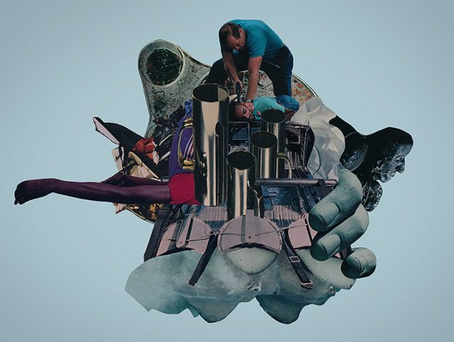 Stingray - collage by Joe Castro