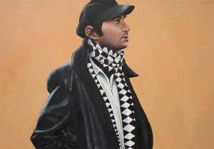 The Migrant Living in Your Ear oil painting by artist Joe Castro