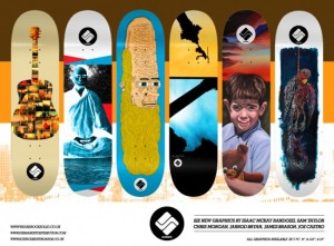 Science Skateboard graphics