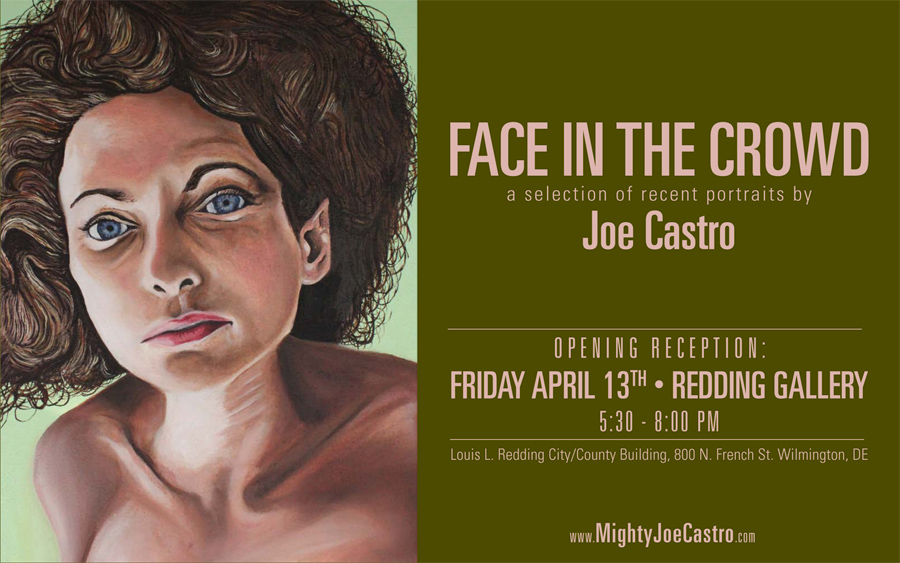 Face in the Crowd portrait painting Joe Castro