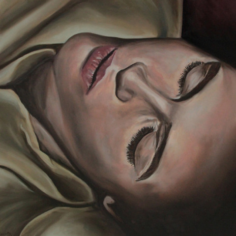 Night Winds Whisper to Me portrait painting Joe Castro