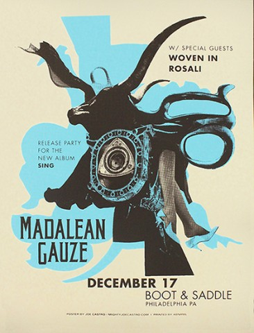 Silkscreen poster for Madalean Gauze