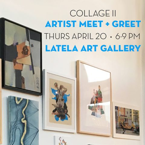 Latela Art Gallery collage Joe Castro
