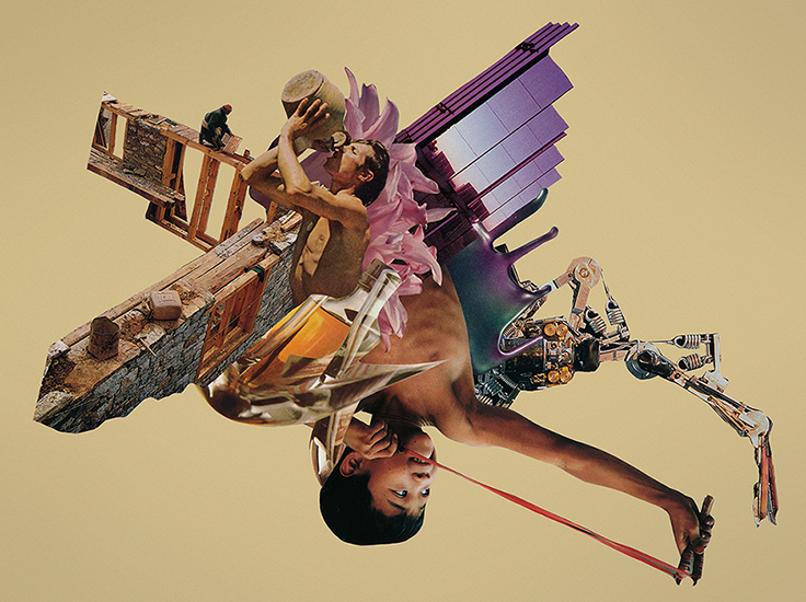 When the Future Is the Past collage by artist Joe Castro