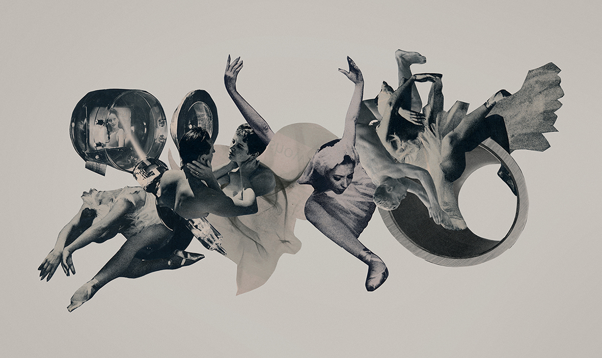 The Dance collage art by Mighty Joe Castro