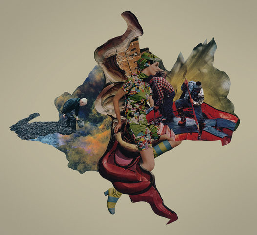 Our Continent Lost collage by Mighty Joe Castro