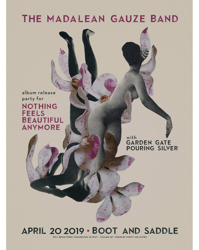 Nothing Feels Beautiful Anymore Madalean Gauze poster by Mighty Joe Castro