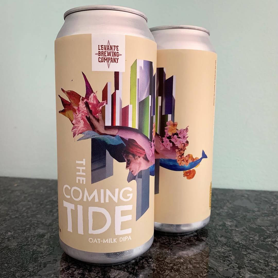 The Coming Tide beer can with art by Mighty Joe Castro