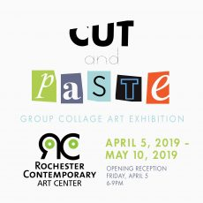 Cut and Paste collage show at Rochester Contemporary Art Center